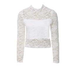 white lace crop top from ZoYou