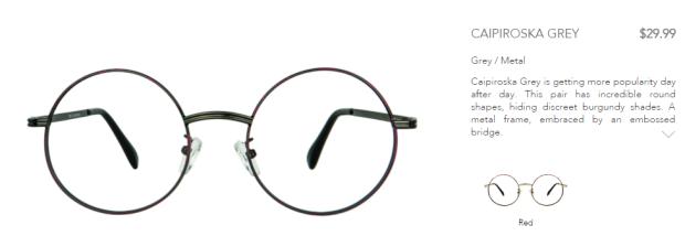 Polette caipiroska grey glasses