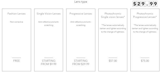 Polette caipiroska lens type