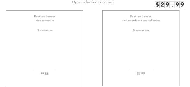 Polette caipiroska options for fashion lenses